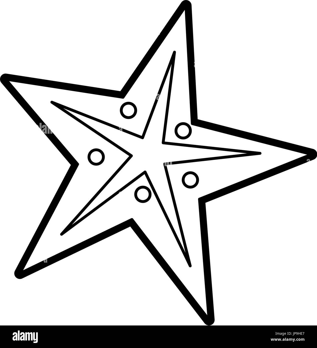 starfish vector illustration - Stock Vector