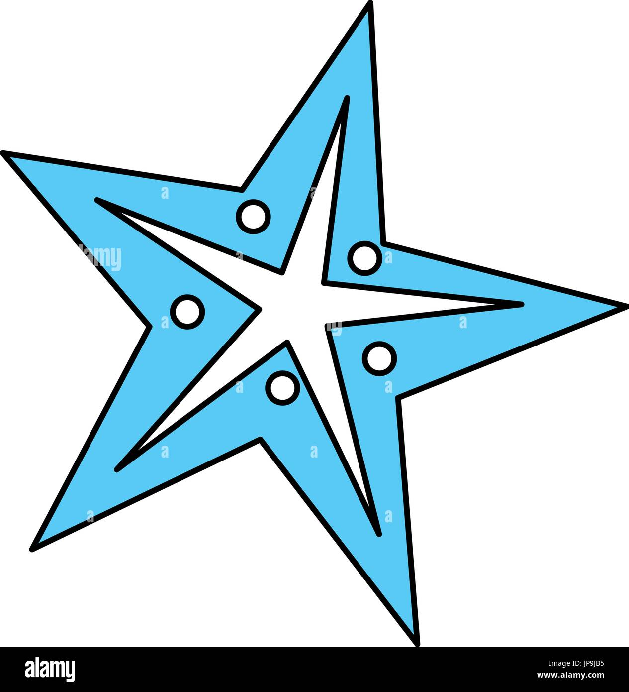 starfish vector illustration - Stock Image