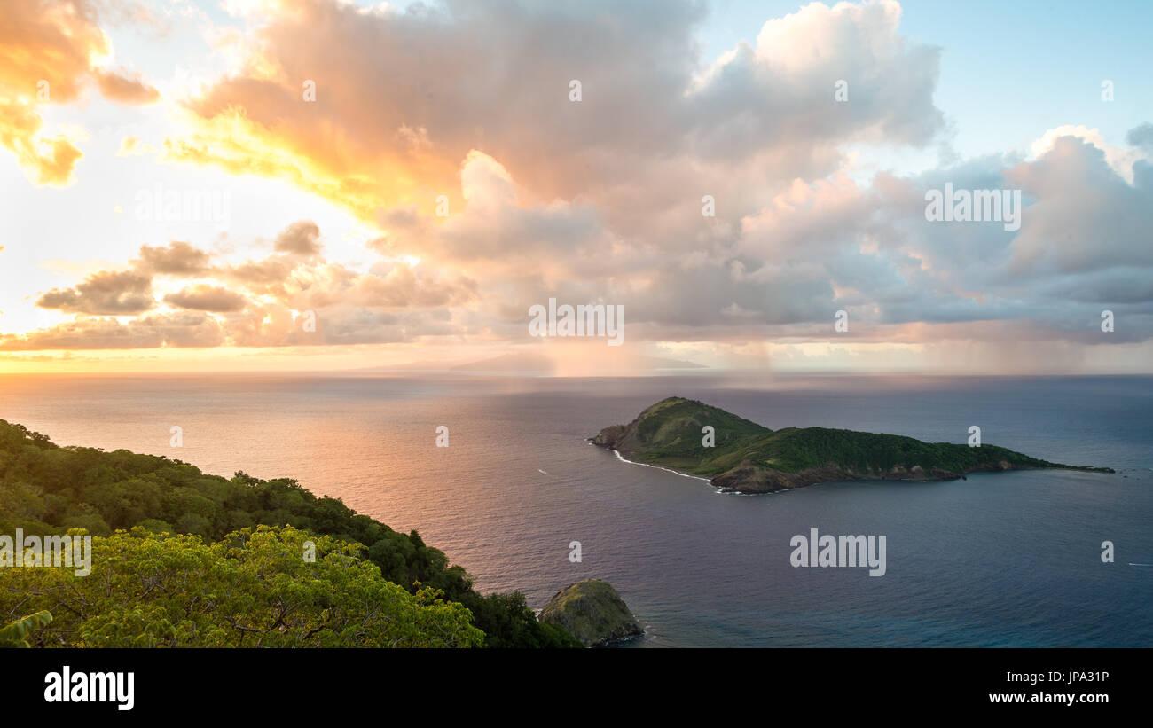 Island of the Saints during sunrise, Guadeloupe - Stock Image