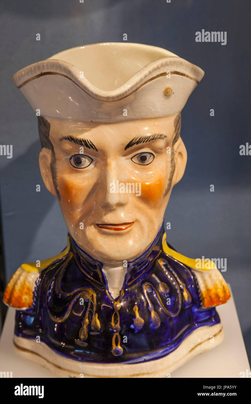 England, London, Westminster, Hyde Park Corner, Wellington Arch, Duke of Wellington Toby Jug - Stock Image