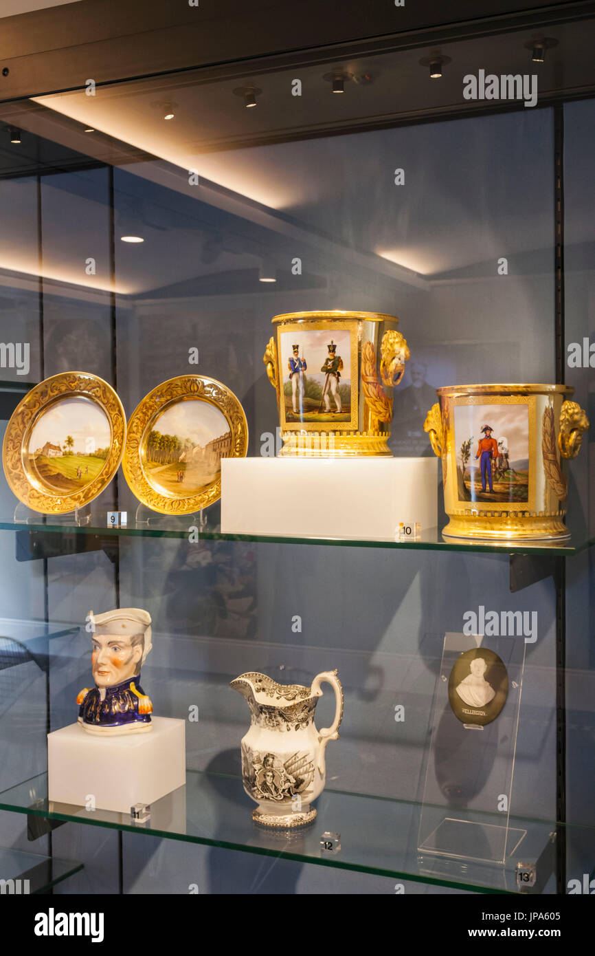 England, London, Westminster, Hyde Park Corner, Wellington Arch, Historical Souvenirs relating to The Duke of Wellington - Stock Image
