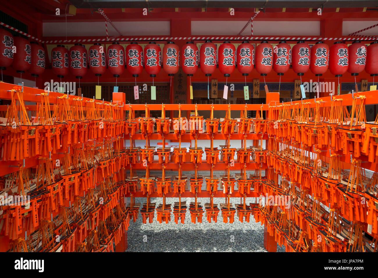 Japan, Kyoto City, Fushimi-Inari Taisha Shrine, Toriies - Stock Image