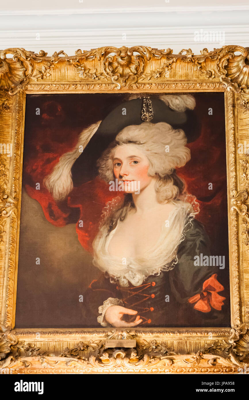 England, Hampshire, Chawton, Chawton House Library, One Time Home of Edward Austen Knight Brother of Jane Austen, Portrait of Mary 'Perdita' Robinson, Georgian Actress and Writer and Mistress of King George IV - Stock Image
