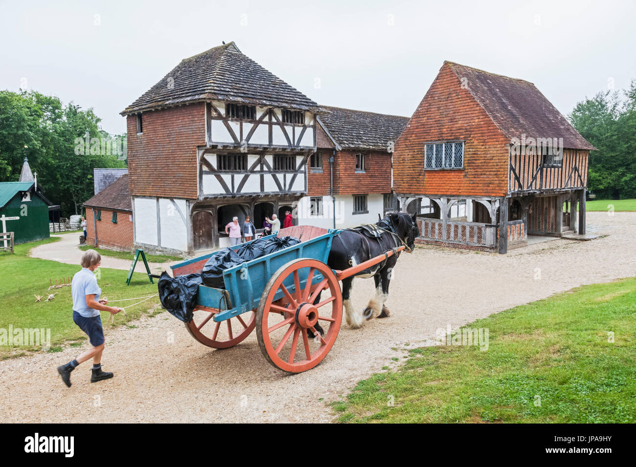 England, West Sussex, Singleton, Weald and Downland Open Air Museum - Stock Image
