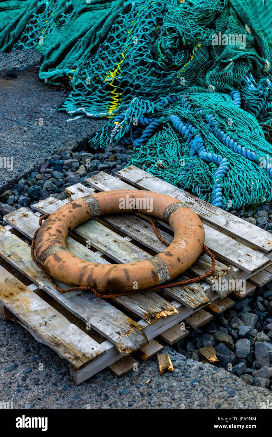 Old Life-Saver, Iceland - Stock Image