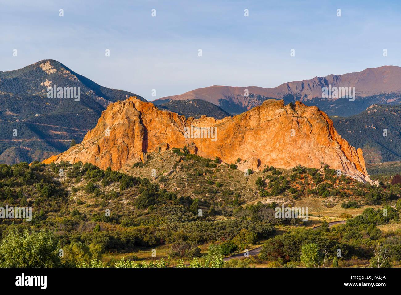 The Garden of the Gods, Colorado, USA - Stock Image