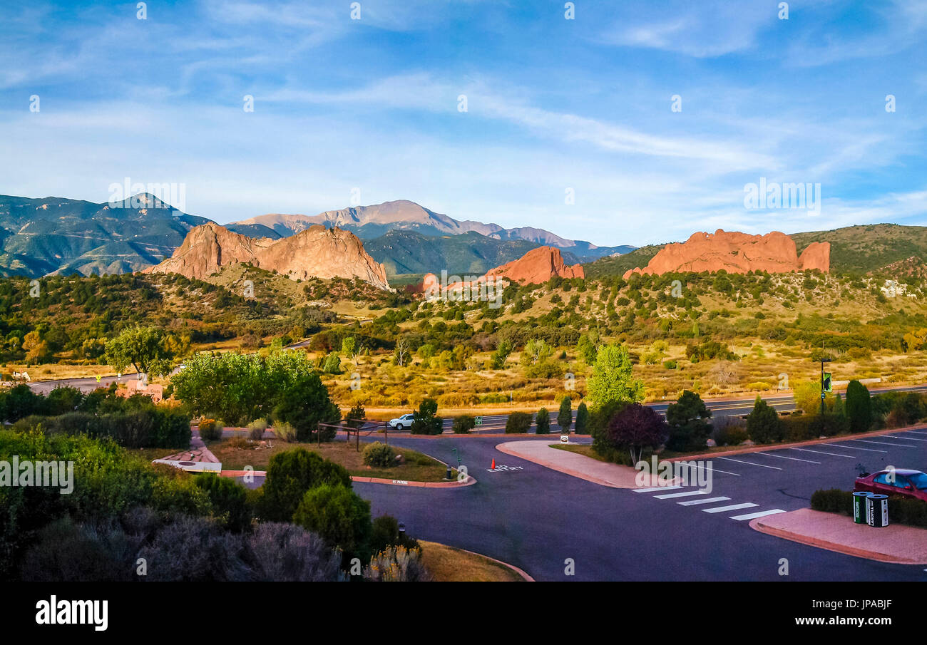 The Garden of the Gods, Colorado, USA Stock Photo