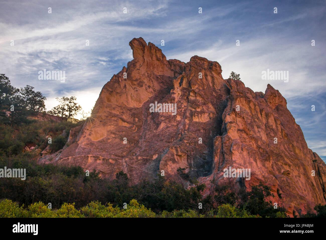 The Garden of the Gods, Colorado, USA Stock Photo