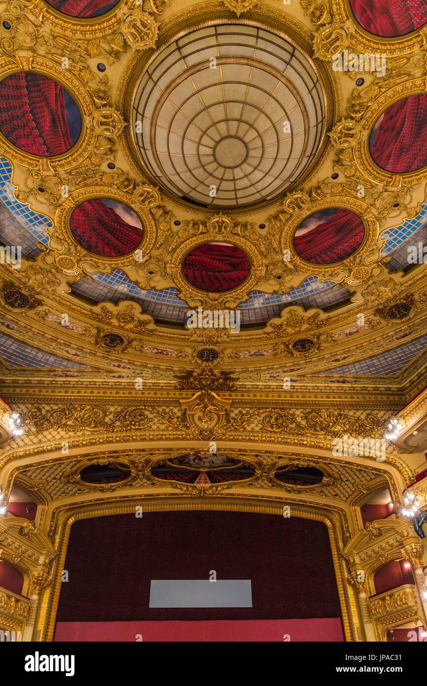 Gran Teatre del Liceu, opera house, La Rambla, Ciutat Vella, Barcelona, Spain. - Stock Image
