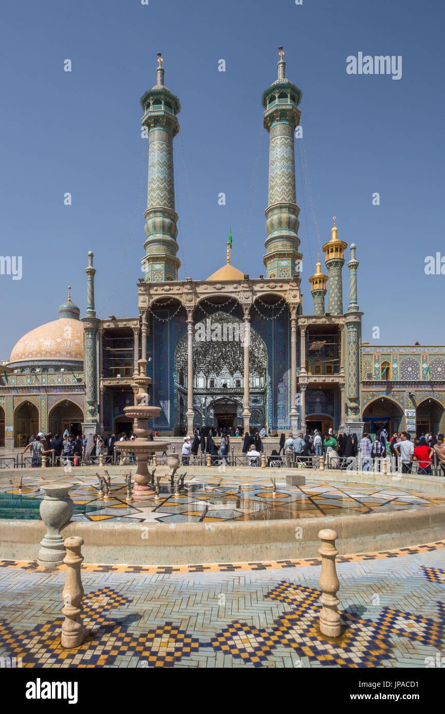 Iran, Qom City, Hazrat-e Masumeh (Holy Shrine) Stock Photo