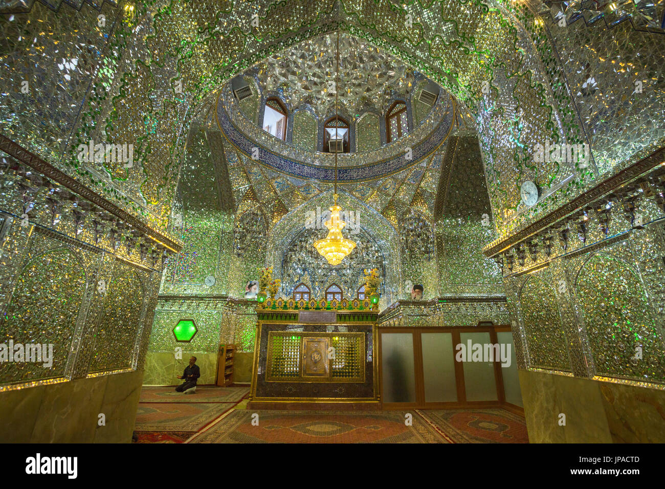 Iran, Shiraz City, Imamyadeh Mausoleum, Tomb of Emir Ali - Stock Image