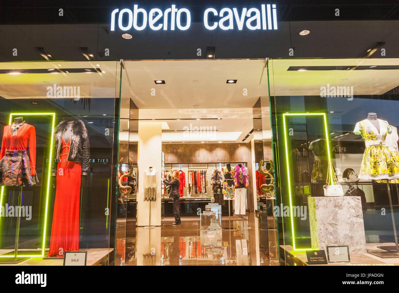 China, Hong Kong, Central, IFC Shopping Mall, Roberto Cavalli Store Stock Photo