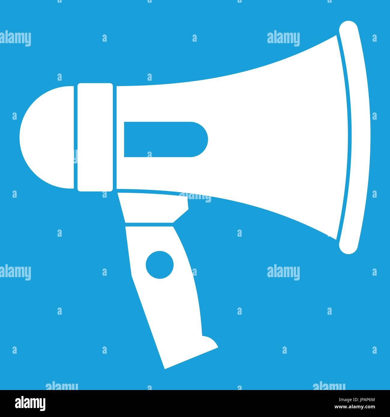 Mouthpiece icon white - Stock Image