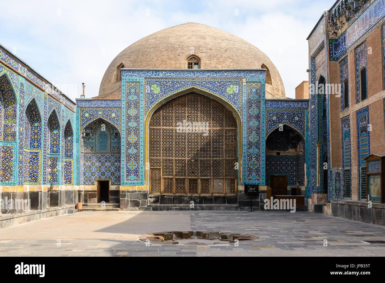 ARDABIL, IRAN - OCTOBER 09, 2014: Sheikh Sufi sanctuary - Stock Image
