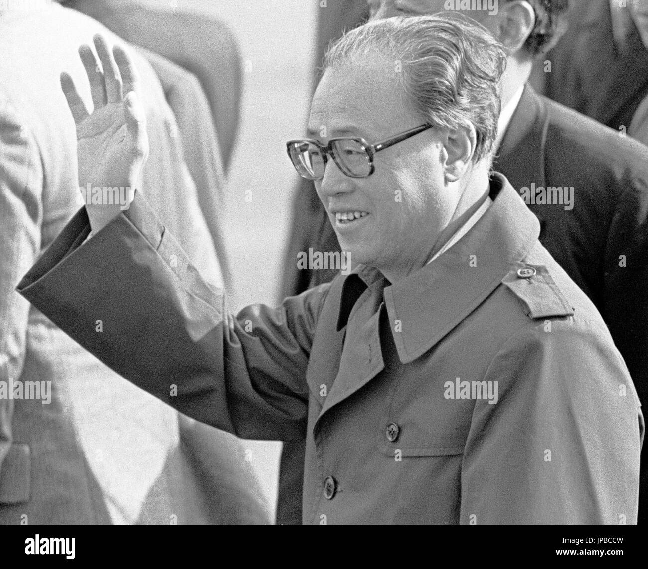 Zhao Ziyang, Premier of Peoples Republic of China, China, Chinese, premier, San Francisco, California, 1980s, 80s, - Stock Image