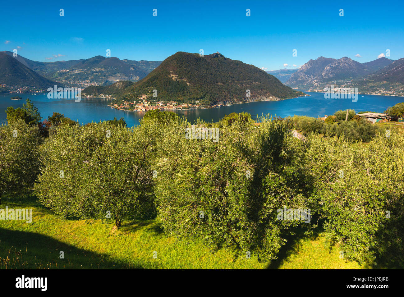 Iseo lake, Brescia province, Italy, Lombardy district, Europe. - Stock Image
