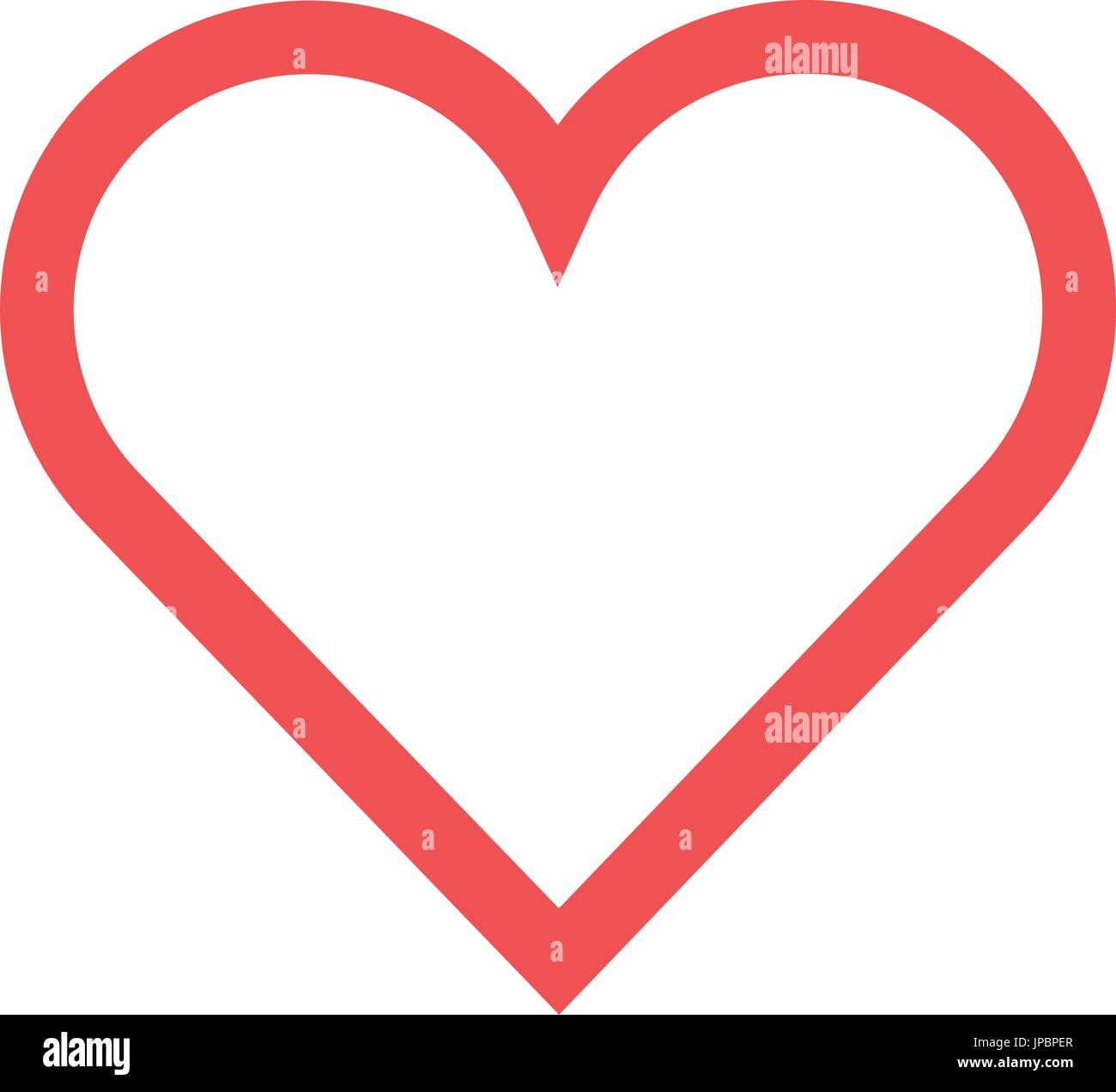 Human heart symbol - Stock Image