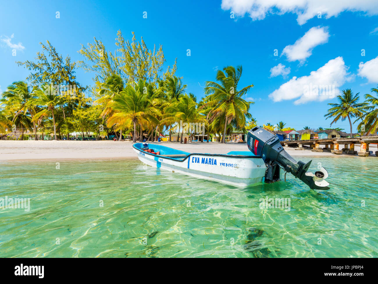 Mano Juan, Saona Island, East National Park (Parque Nacional del Este), Dominican Republic, Caribbean Sea. Stock Photo