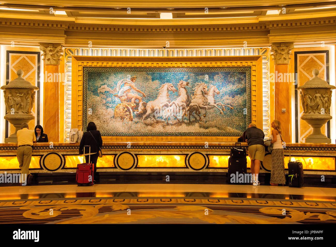 Las Vegas Nevada Usa Check In Desk Inside Caesar Palace