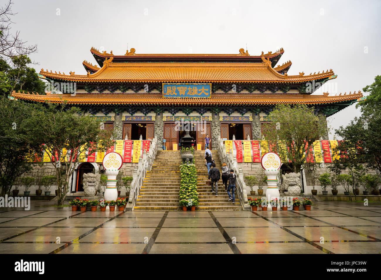 Po Lin monastery main hall - Stock Image