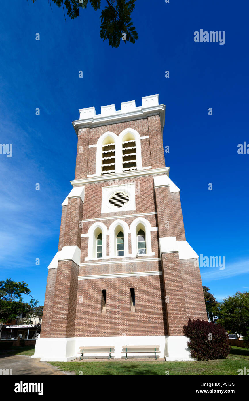 Belltower of St Paul's Anglican Church, Lennox Street, Maryborough, Queensland, QLD, Australia - Stock Image