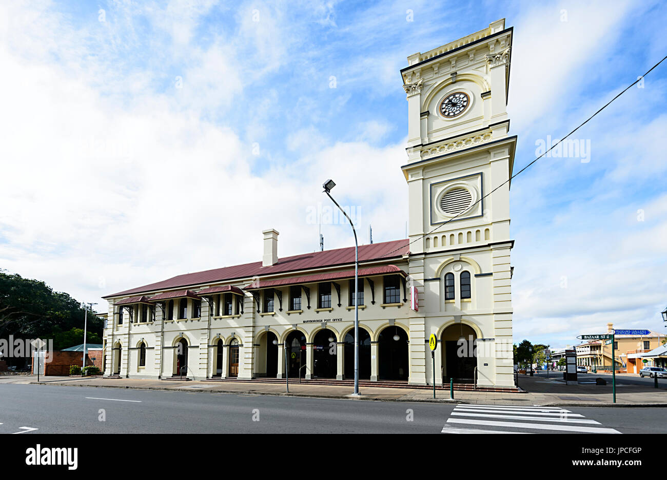Historic Post Office building, Wharf Street, Heritage Precinct, Maryborough, Queensland, QLD, Australia - Stock Image