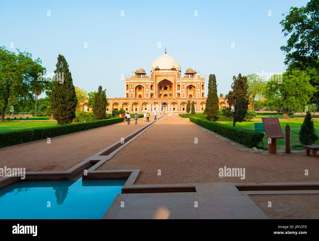 Humayun's tomb - Delhi India - Stock Image
