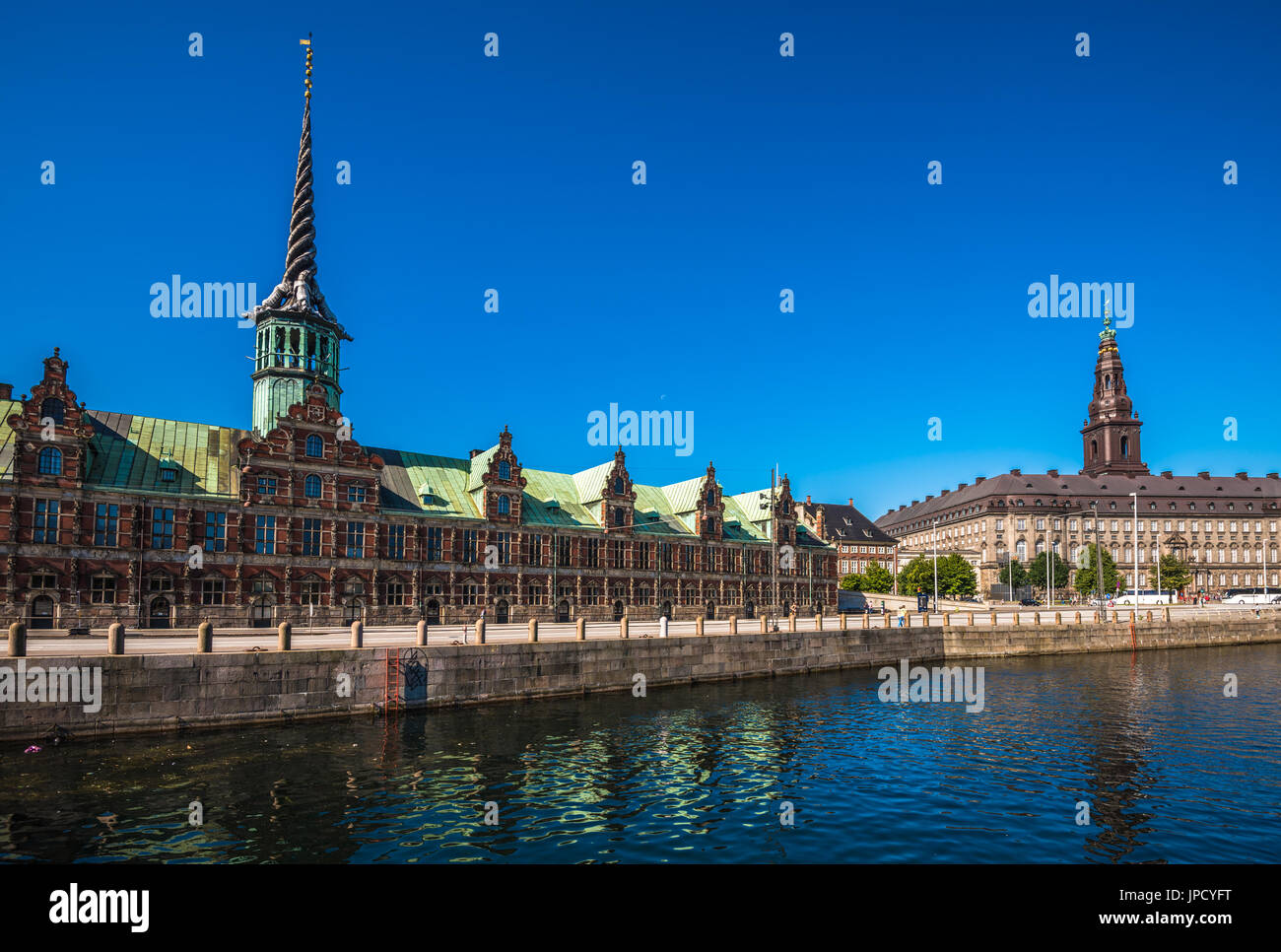 The Borsen, Old Stock Exchange Building in Copenhagen, Denmark - Stock Image