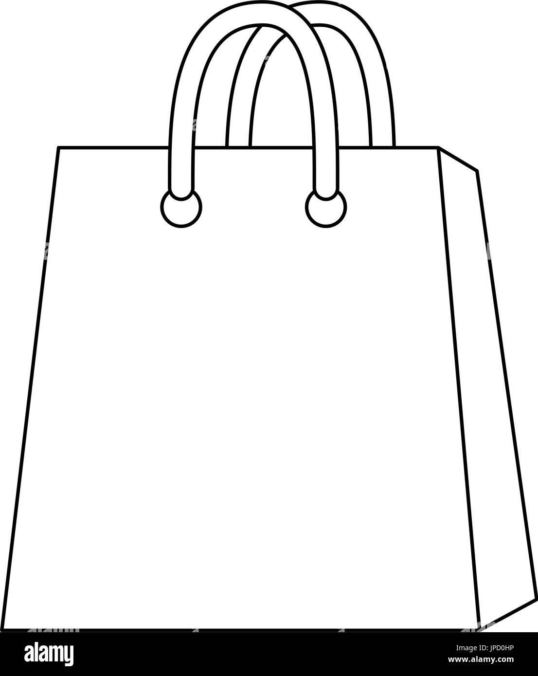 Shopping Bag Icon Over White Background Icon Stock Vector Art