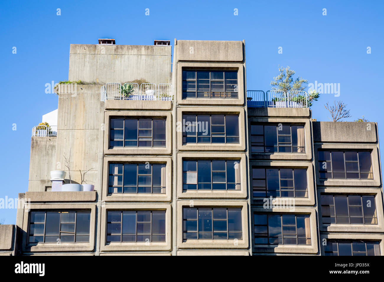 The Sirius public housing building in The Rocks area of Sydney city centre,New south wales,australia - Stock Image