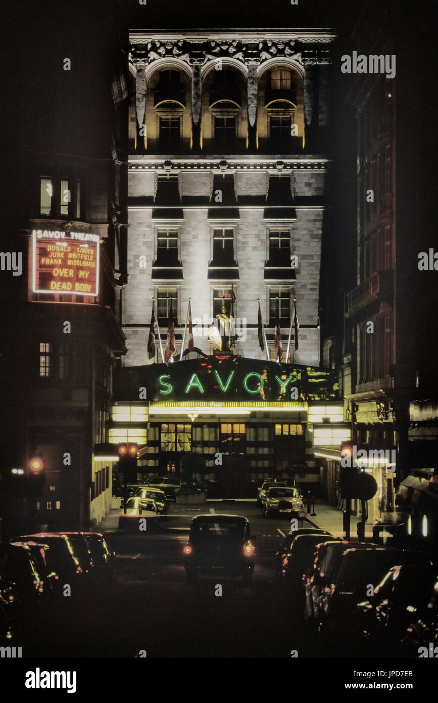 Savoy Hotel, Strand, London, England, UK, Circa 1980's - Stock Image