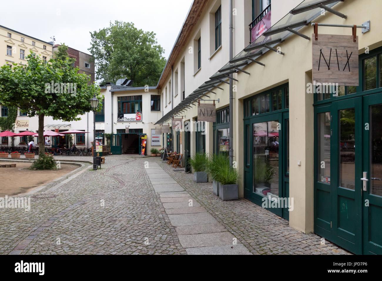 One of Berlin's Courtyards in the Hackesche Hofe district - Stock Image