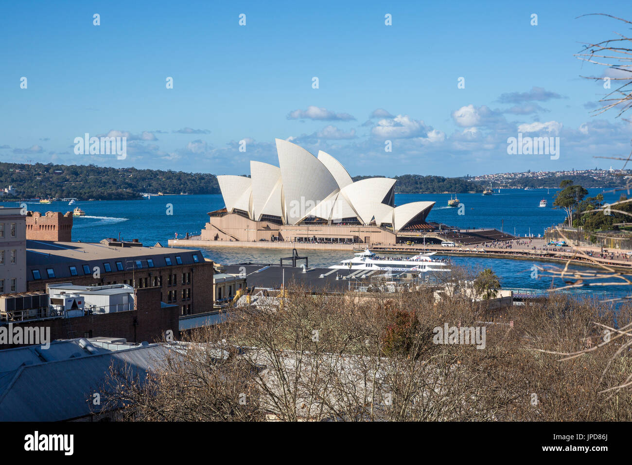 View of Sydney opera house and circular quay,Sydney,australia - Stock Image