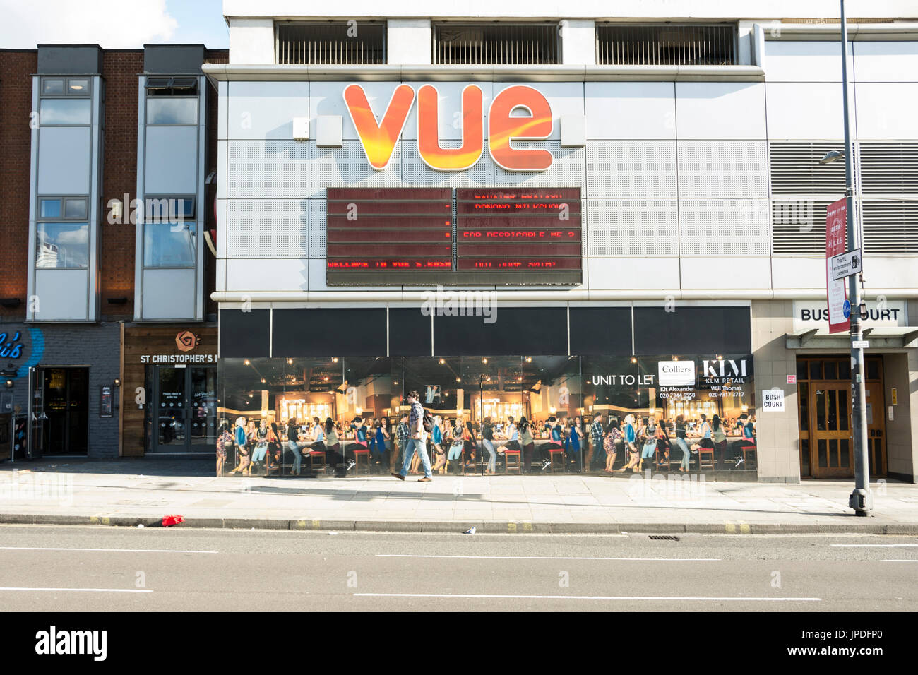Exterior of the Vue cinema complex in Shepherds Bush, London, UK - Stock Image