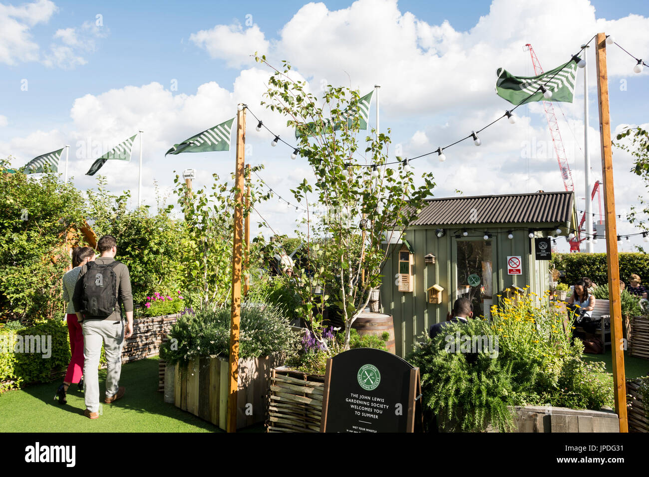 4a2f94b3e6b8 The roof garden at John Lewis on Oxford Street, London, UK Stock ...