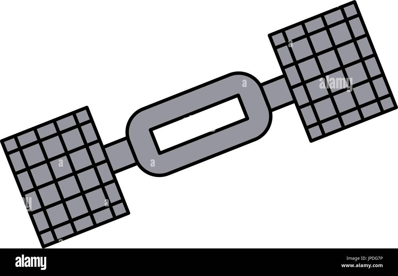 satellite telecommunications icon image  - Stock Image