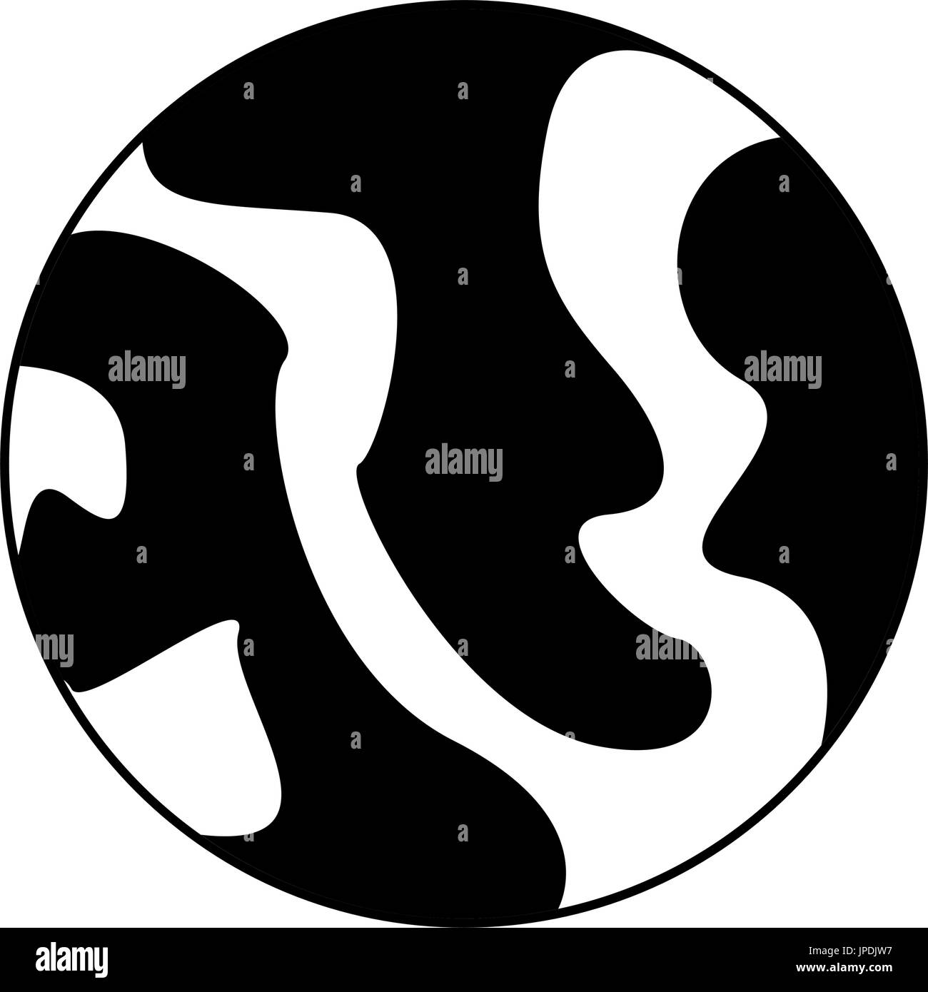 celestial body icon image  - Stock Image