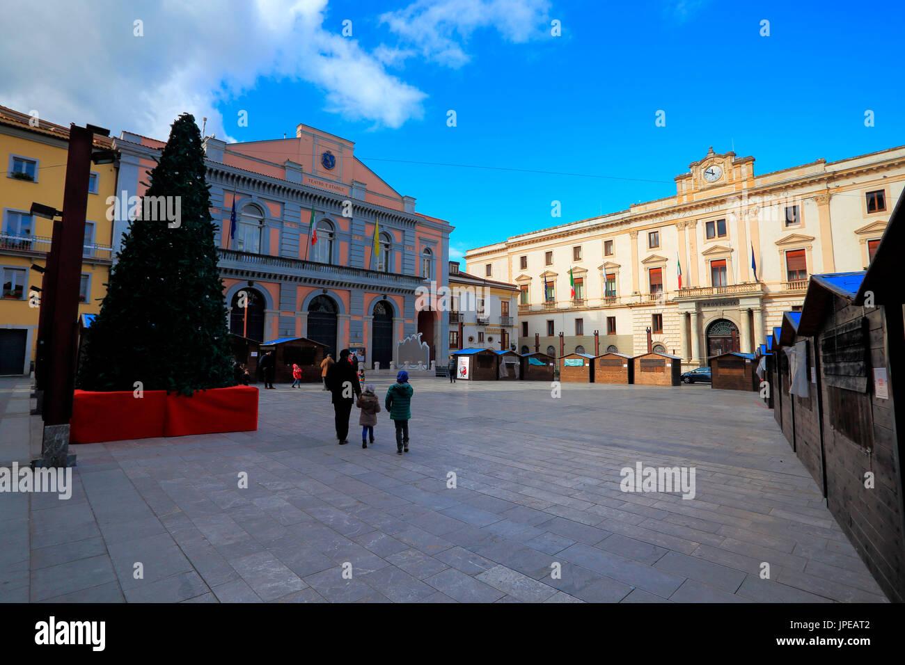 Mario Pagano square, Potenza district, Basilicata, Italy Stock Photo