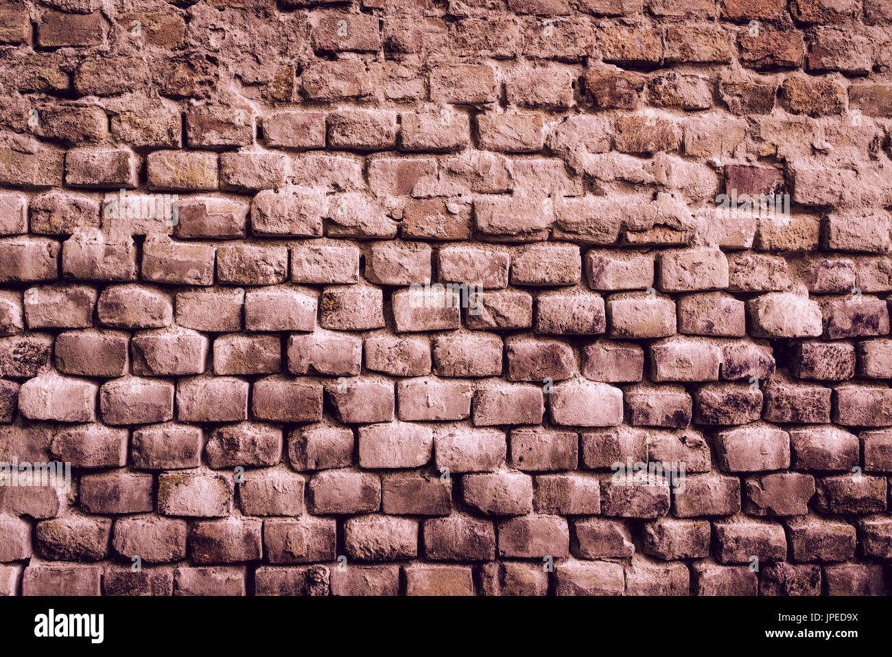 Old brick wall surface, brickwall urban pattern texture to be used as background Stock Photo