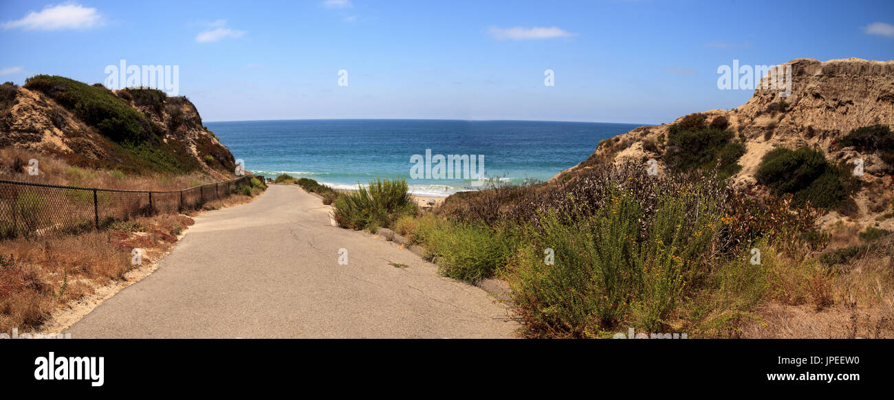 Summer at the San Clemente State Beach in Southern California Stock Photo