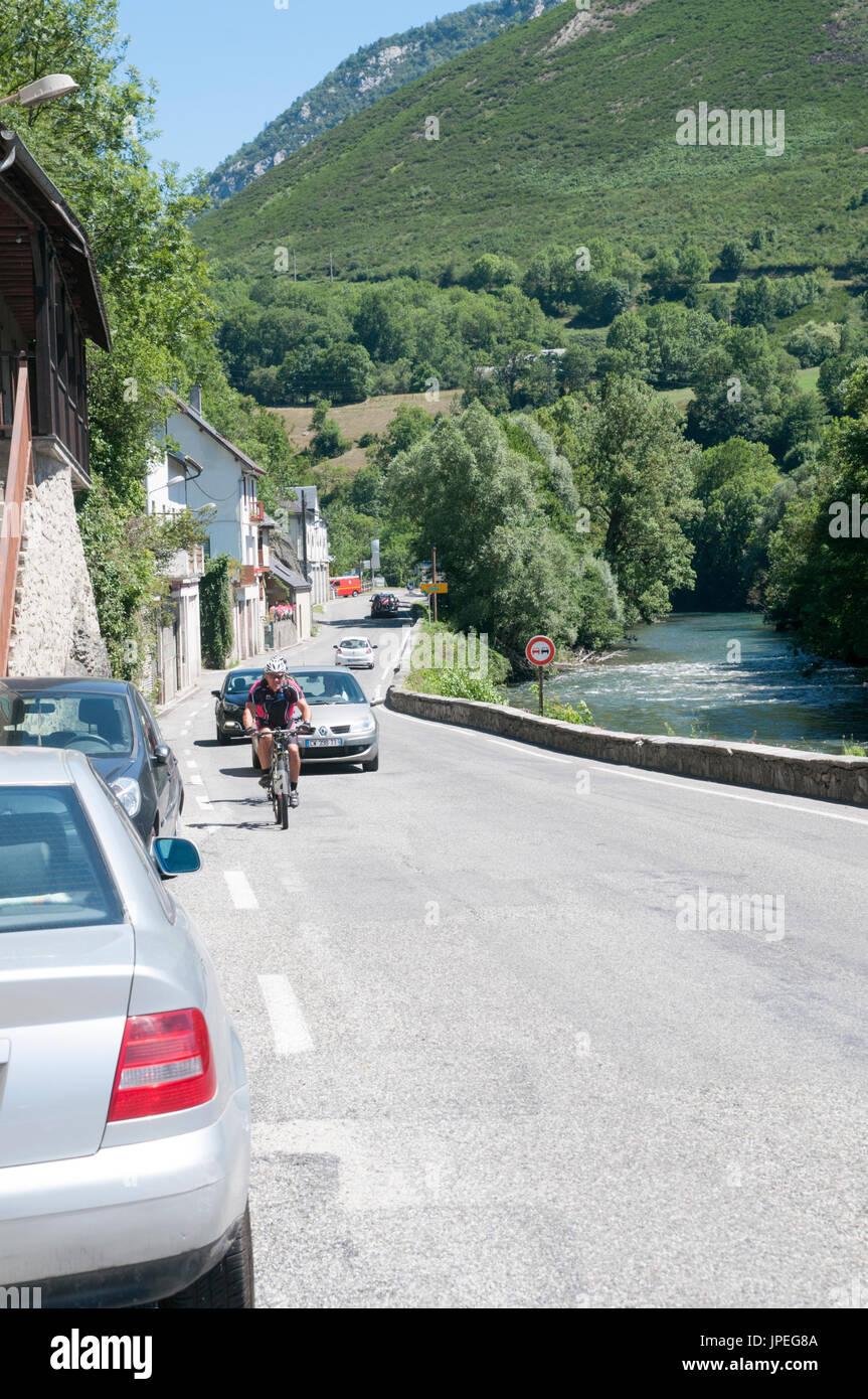 Arreau, Hautes-Pyrénées, France. Stock Photo