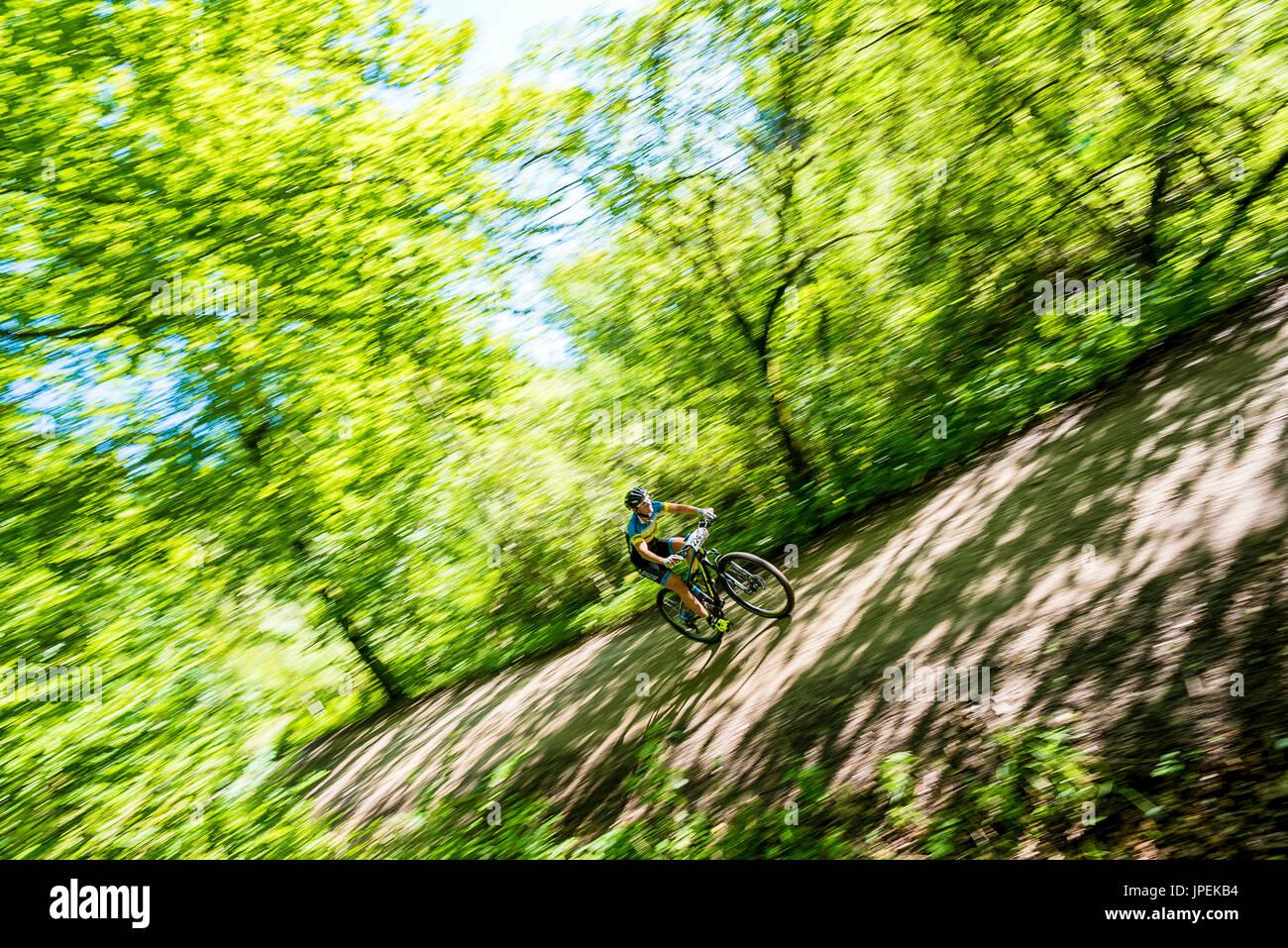 MTB Race Schatzberg Rennen - Diessen am Ammersee, Bavaria, Germany - Stock Image
