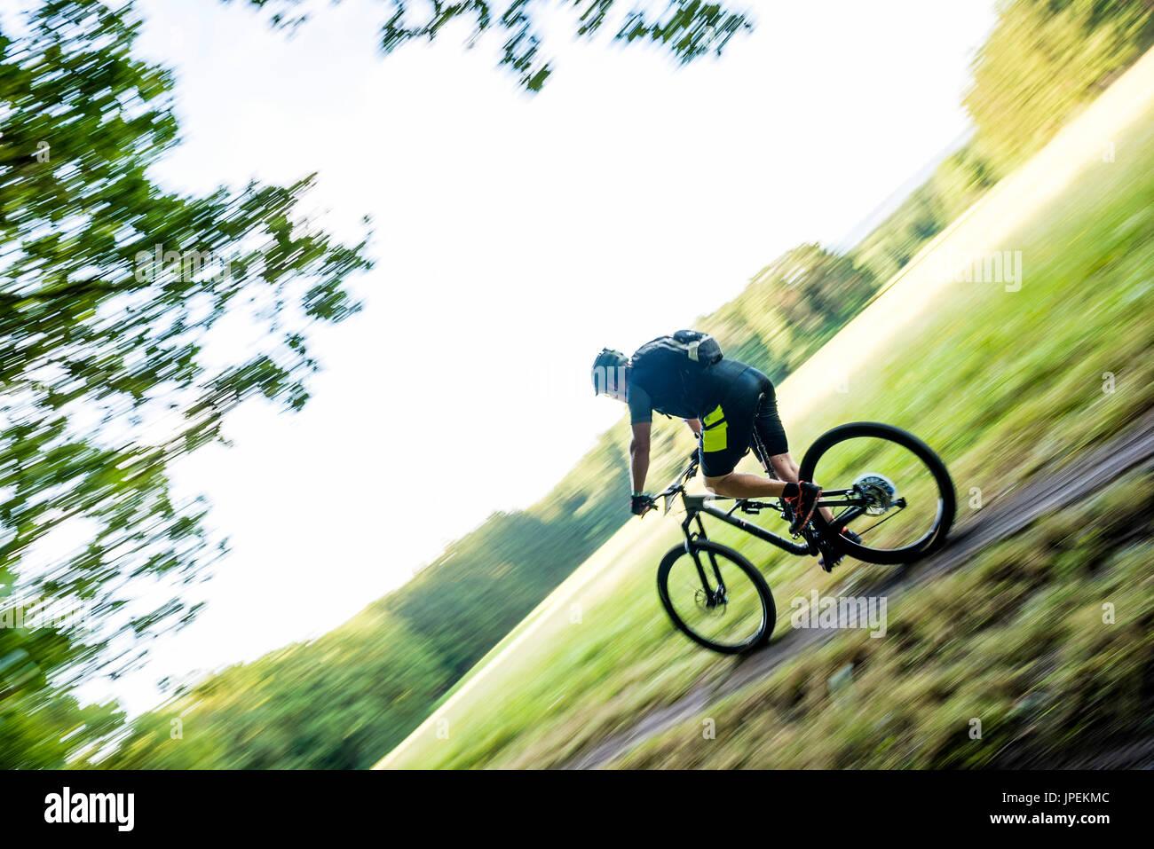 MTB Race Schatzberg Rennen - Diessen am Ammersee, Bavaria, Germany Stock Photo