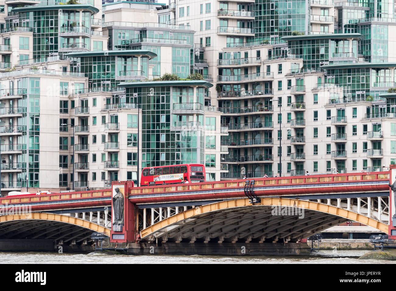 St. George Wharf luxury apartments in Nine Elms London UK - Stock Image