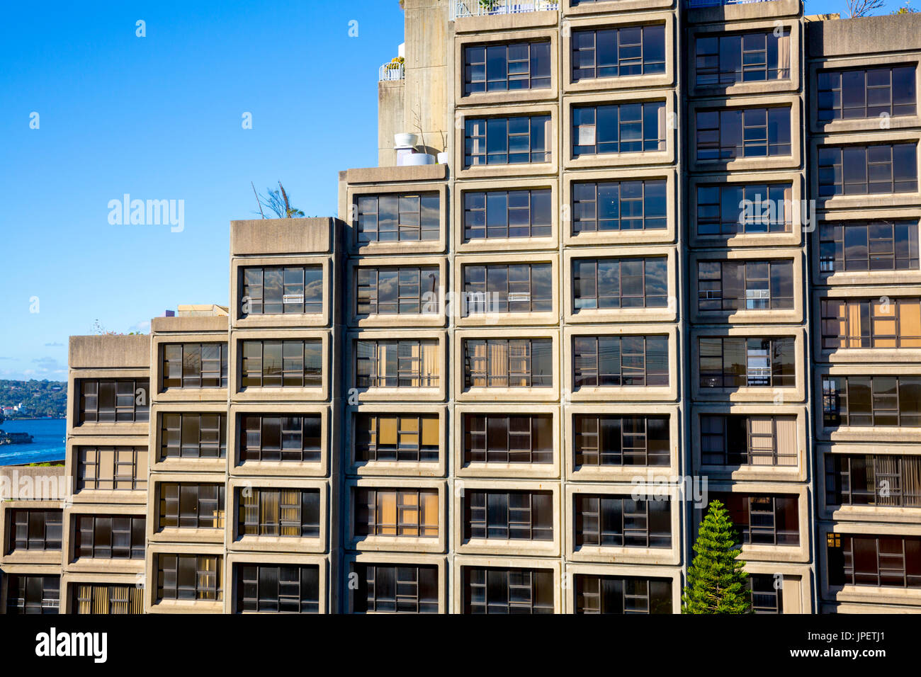 Sirius public housing building in the Rocks area of Sydney city centre,new south wales,Australia - Stock Image