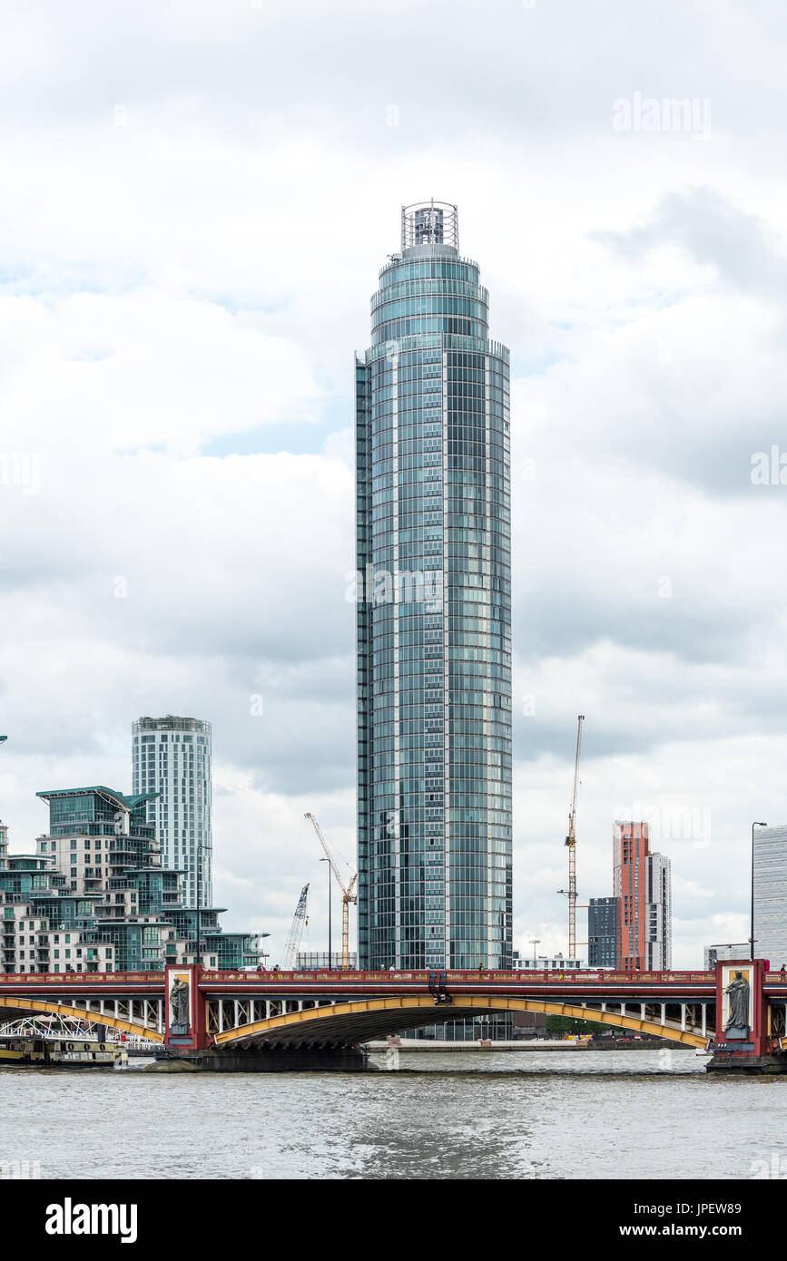 The Tower at St George Wharf development - Stock Image