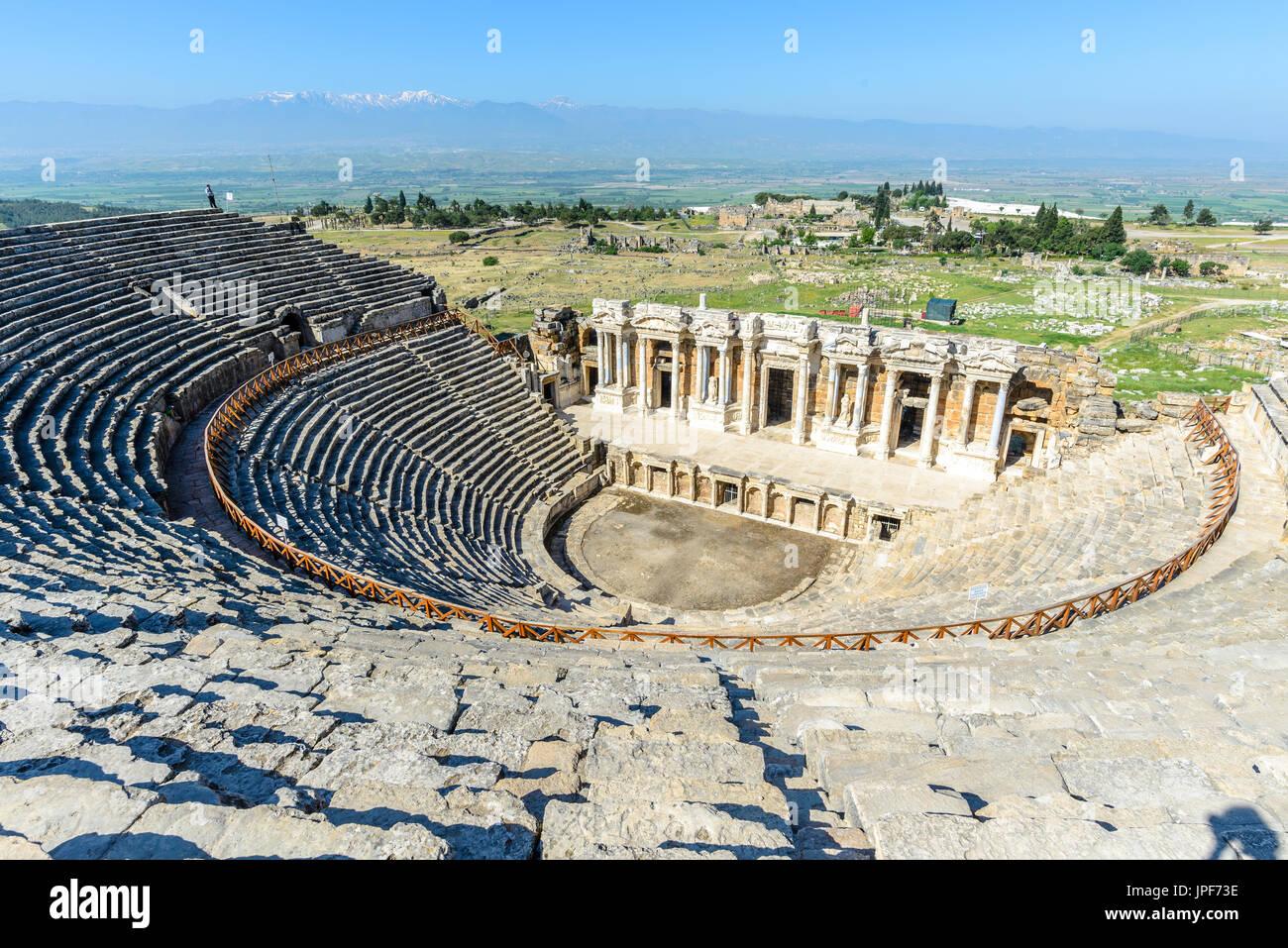 Amphitheater of Hierapolis, Turkey - Stock Image