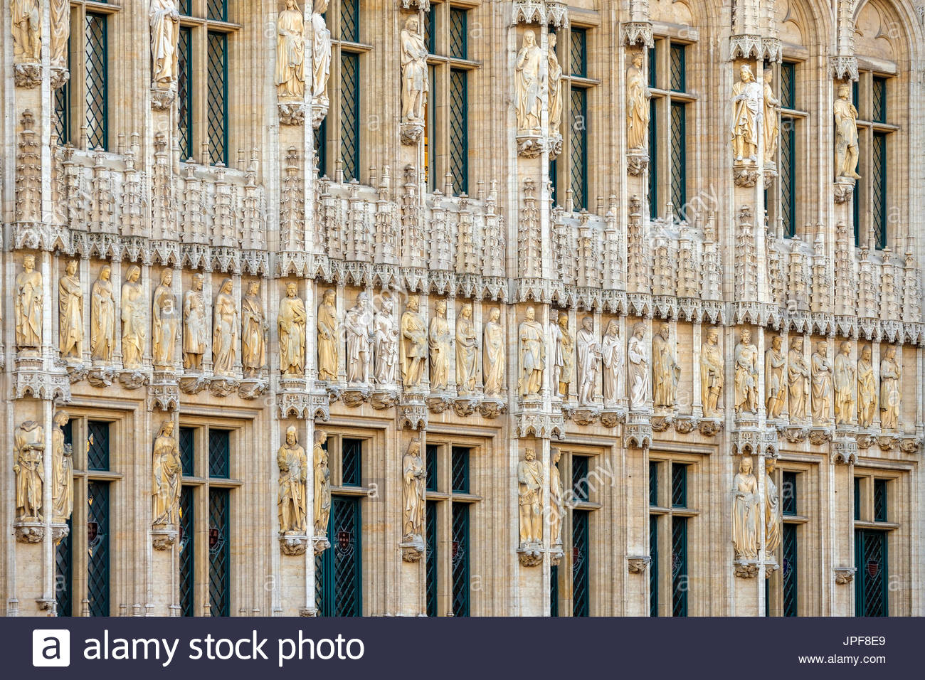 Belgium, Brussels (Bruxelles). Hotel de Ville (Stadhuis) town hall on the Grand Place (Grote Markt), UNESCO World Stock Photo