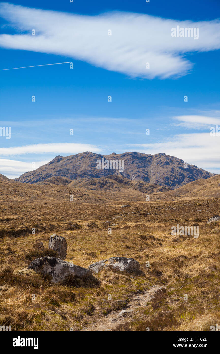 The Corbett Druim Tarsuinn near Loch Shiel Highlands of Scotland. Stock Photo