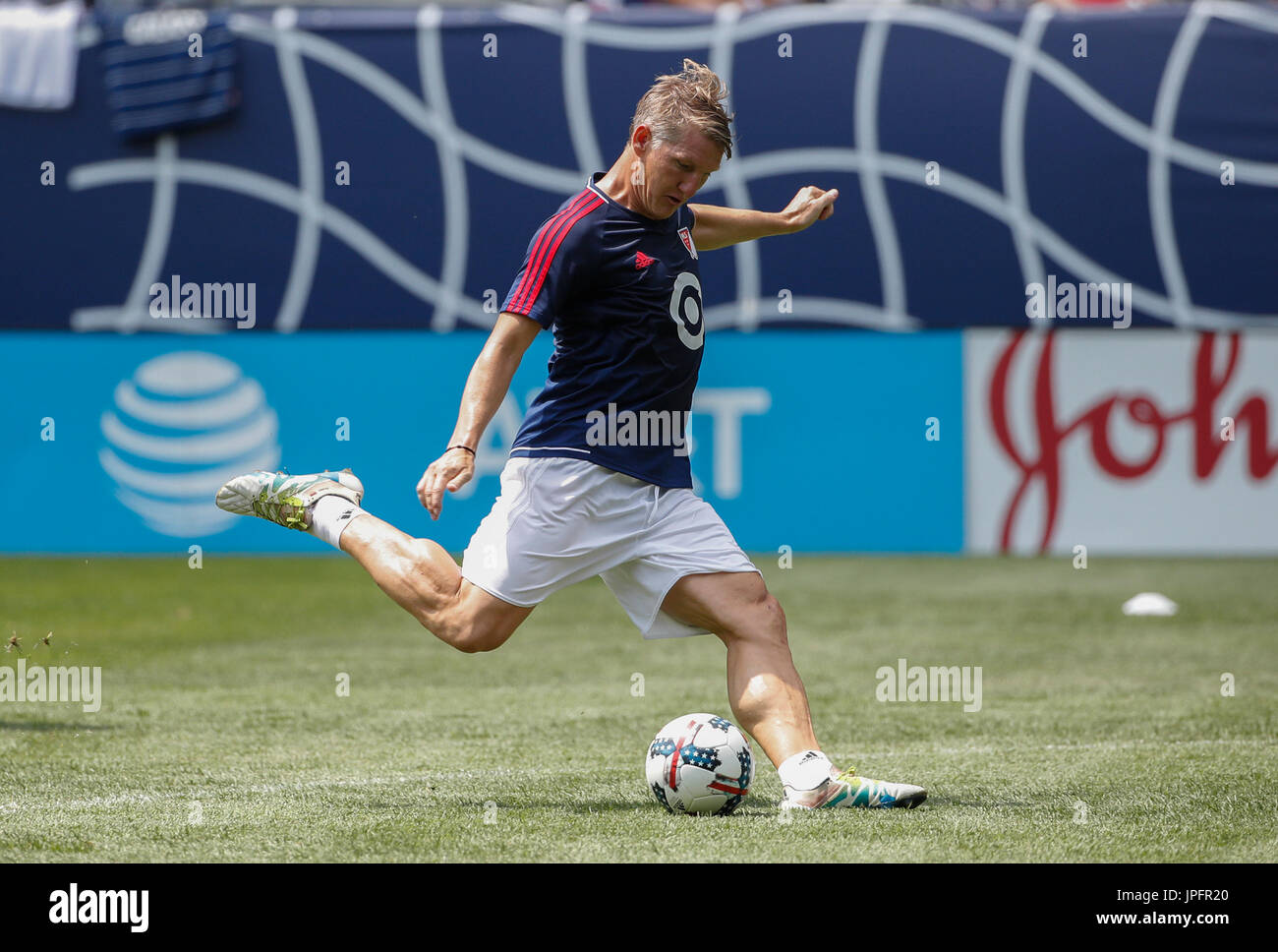 a04491a60e99 MLS All-Stars captain Bastian Schweinsteiger participates in a training  session prior to the friendly match between Real Madrid and the MLS All- Stars ...